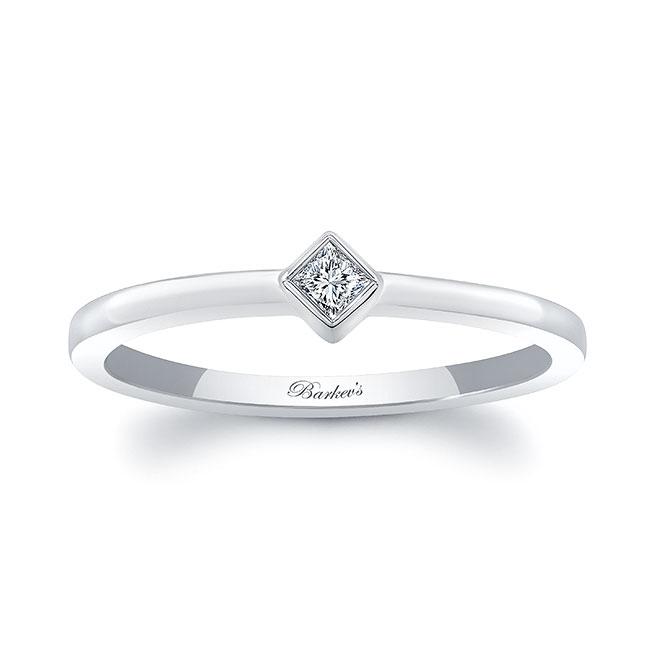 Aria Princess Cut Diamond Promise Ring Image 1