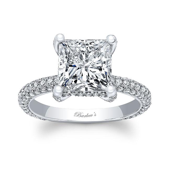 Hidden Halo Moissanite Engagement Ring