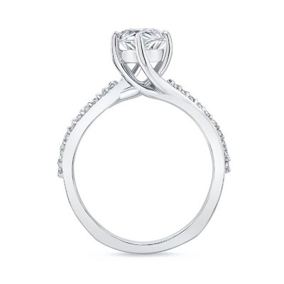Pear Shaped Engagement Ring With Twisted Band Image 2