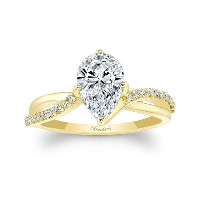 Pear Shaped Moissanite Twist Engagement Ring Image 1