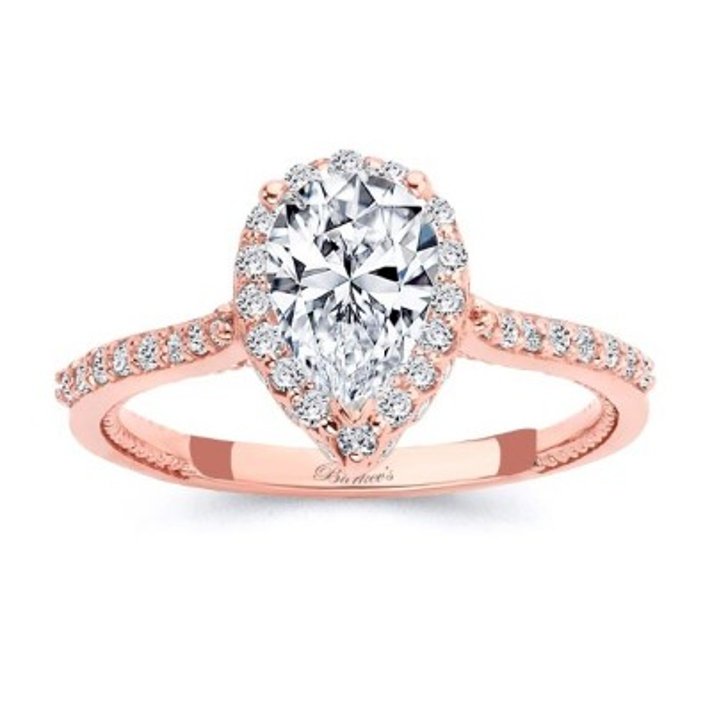 Eva Pear Shaped Halo Ring Image 1