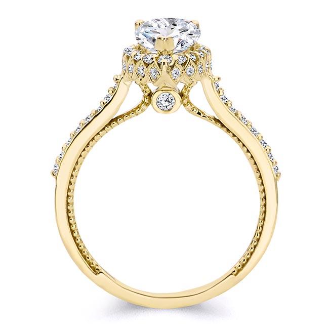 Eva Pear Shaped Halo Ring Image 2