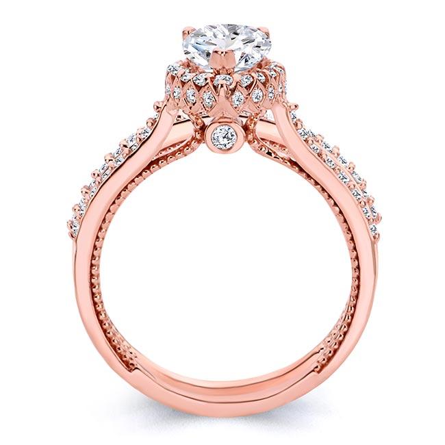 Eva Pear Shaped Moissanite Halo Ring Set Image 2