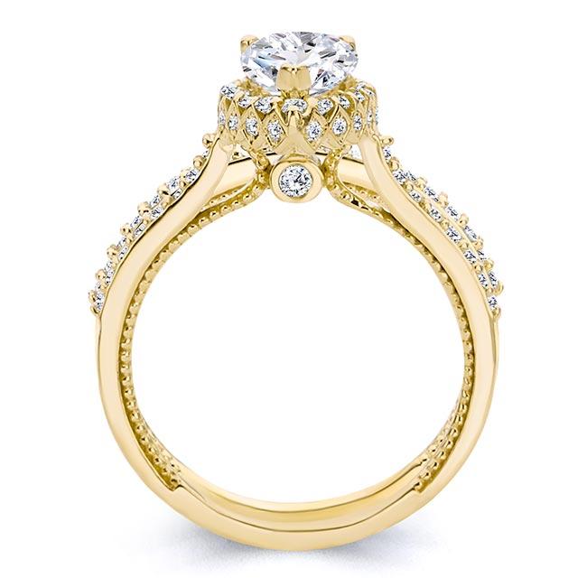 Eva Pear Shaped Halo Ring Set Image 2