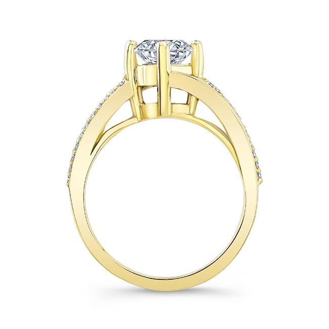 Split Shank Moissanite Engagement Ring Image 2