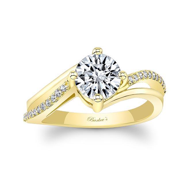 Split Shank Moissanite Engagement Ring Image 1