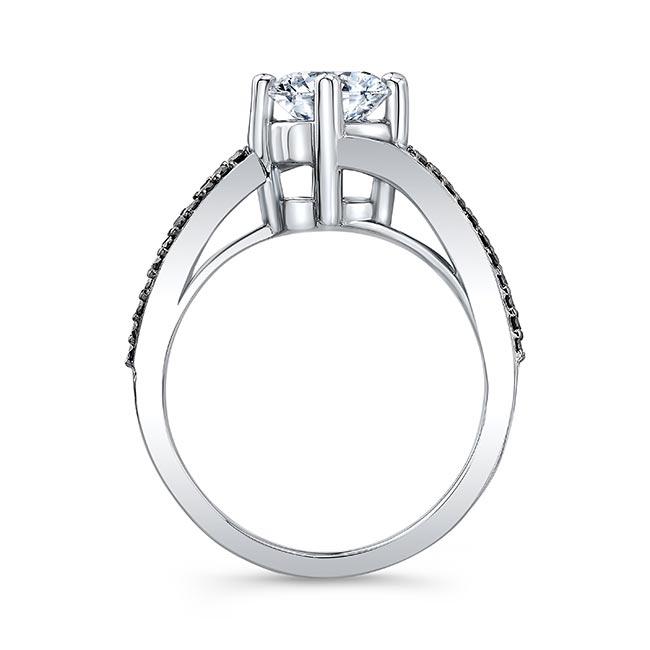 Split Shank Black Diamond Moissanite Ring Image 2
