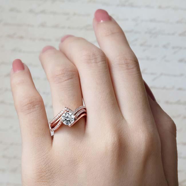 Split Shank Engagement Ring Set Image 4