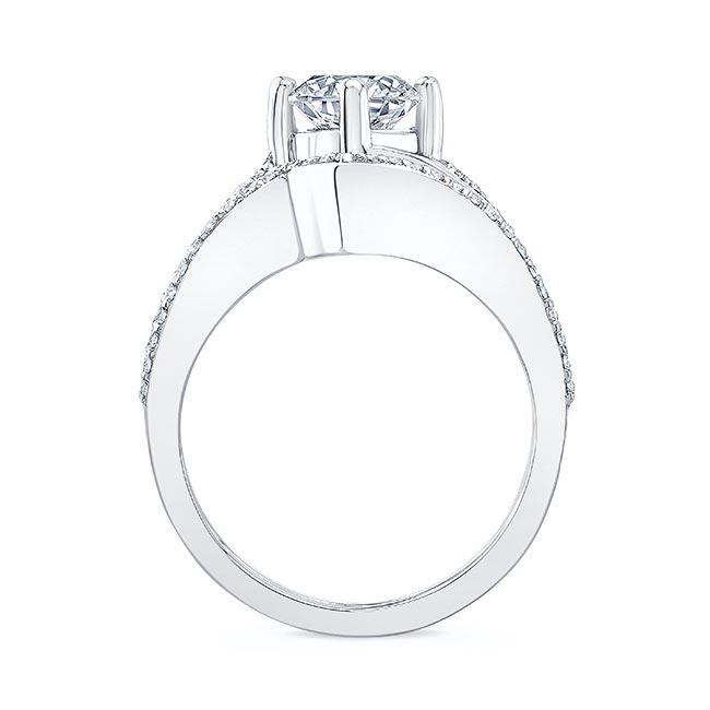Split Shank Moissanite Wedding Ring Set Image 2