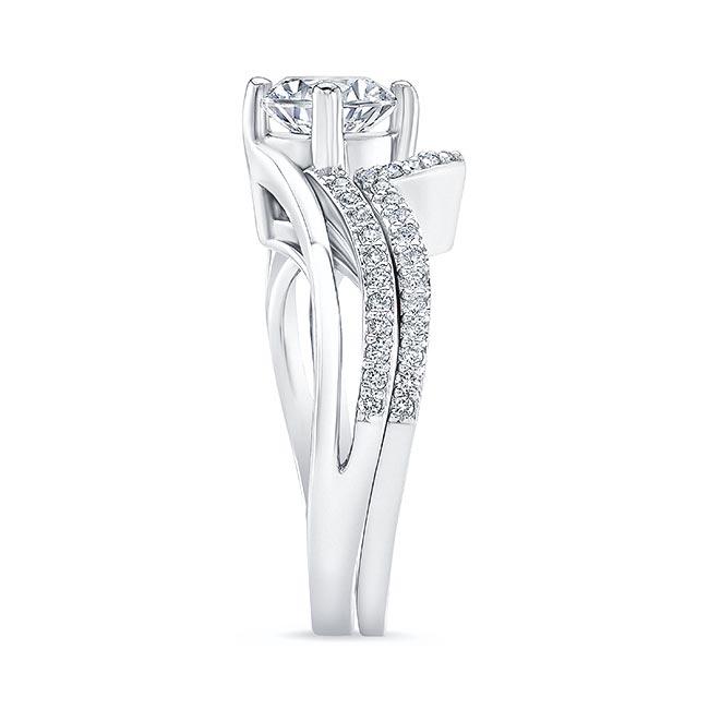 Split Shank Moissanite Wedding Ring Set Image 3