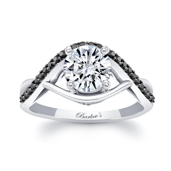 Criss Cross Black Diamond Accent Ring Image 1