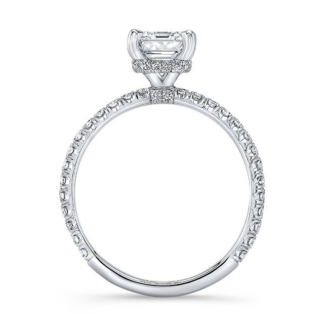 Ella Emerald Cut Diamond Engagement Ring Image 2