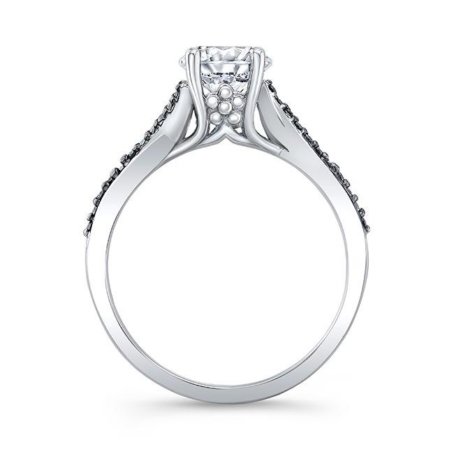 Black Diamond Accent Overlap Ring Image 2