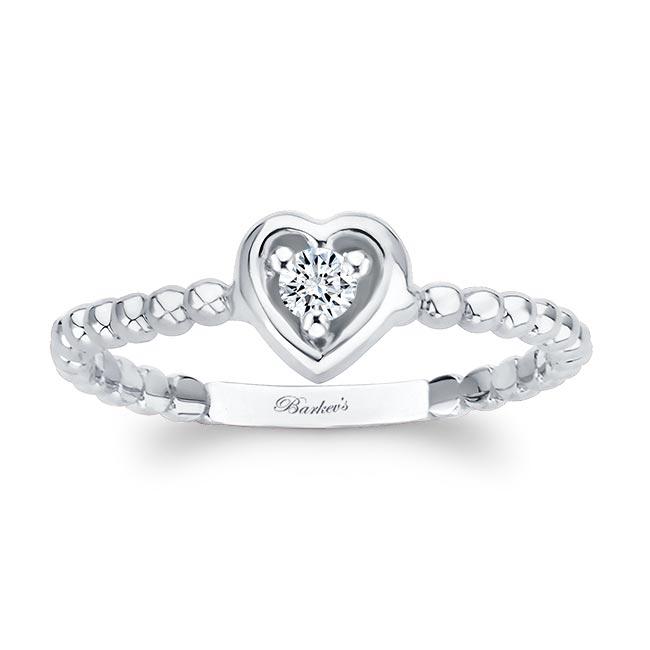 Heart Shape Promise Ring