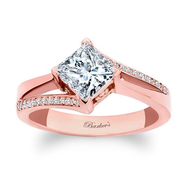 Princess Cut Split Shank Ring Image 1