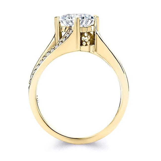 Princess Cut Moissanite Split Shank Ring Image 2