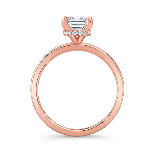 Lia Emerald Cut Moissanite Engagement Ring Image 2
