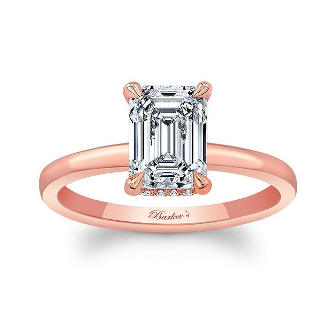 Lia Emerald Cut Moissanite Engagement Ring