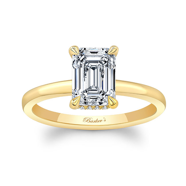 Lia Emerald Cut Engagement Ring Image 1