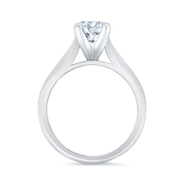 1 Carat Moissanite Solitaire Engagement Ring Image 2