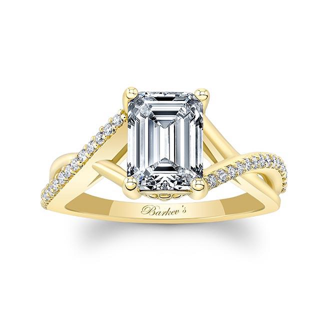 2 Carat Emerald Cut Diamond Ring Image 1