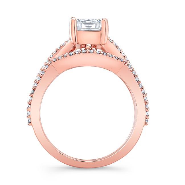 2 Carat Emerald Cut Diamond Ring Set Image 2