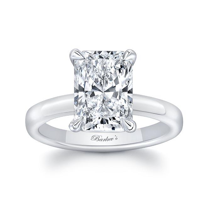 Lori Radiant Cut Solitaire Moissanite Engagement Ring