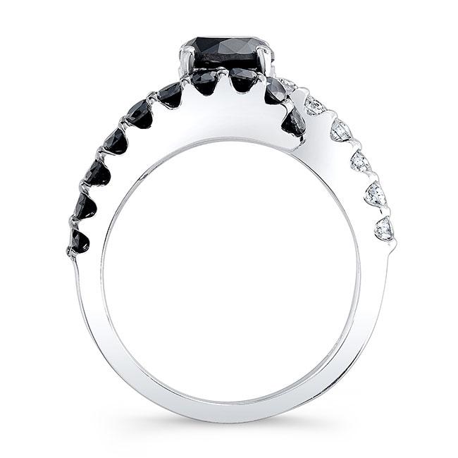 Black Diamond Engagement Ring BC-7737LBK Image 2