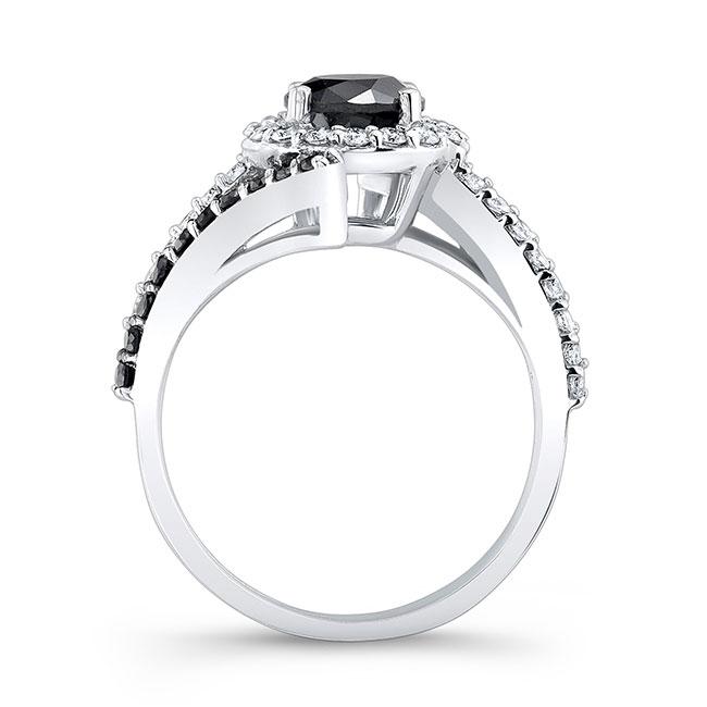 Contemporary Black Diamond Engagement Ring Image 2