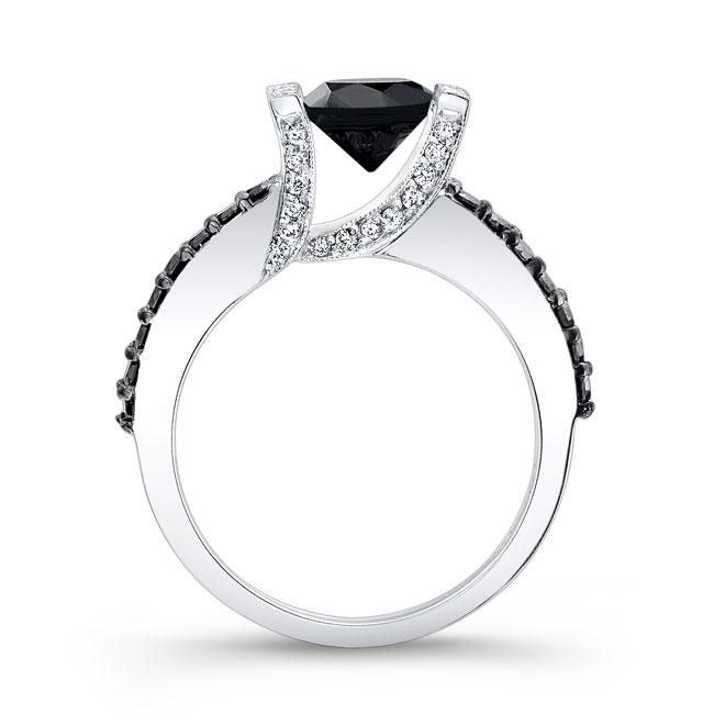 Black Diamond Engagement Ring BC-7867LBK Image 2