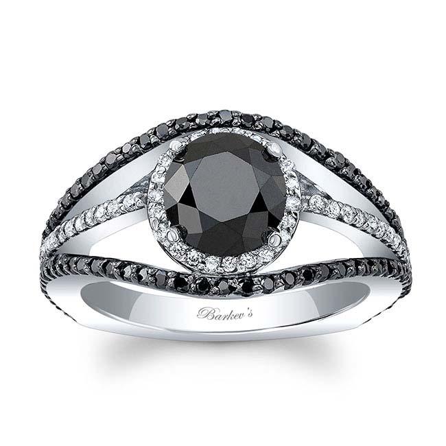 Black Diamond Engagement Ring BC-7886LBK