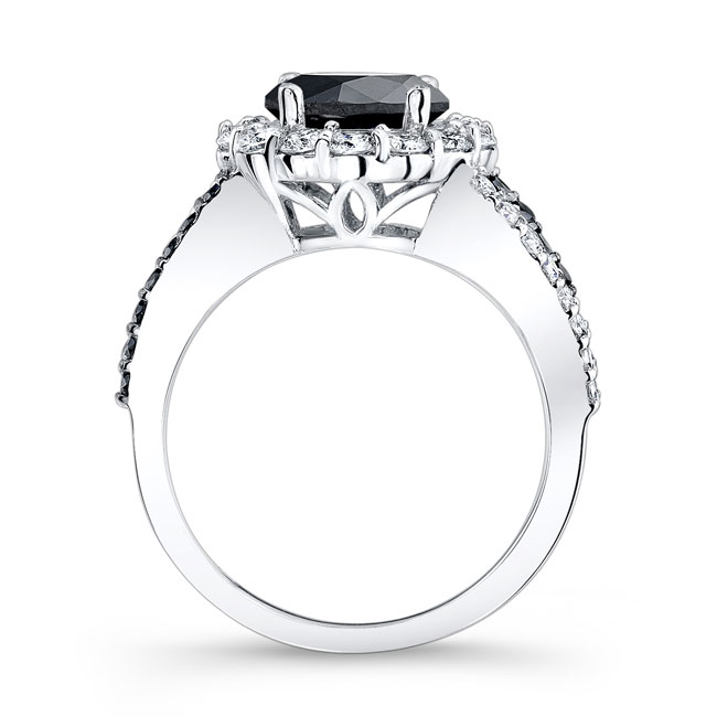 Black & White Diamond Engagement Ring BC-7893LBK Image 2