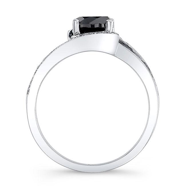 Unique Black Diamond Engagement Ring Image 2