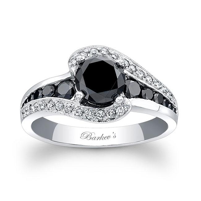 Unique Black Diamond Engagement Ring Image 1