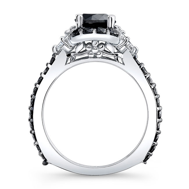 Black Diamond Engagement Ring BC-7930LBK Image 2
