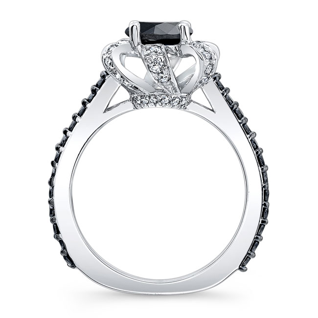 Black Diamond Engagement Ring BC-7958LBK Image 2