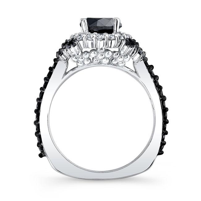 Black Diamond Cluster Ring Image 2