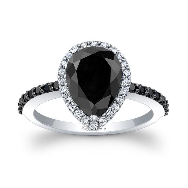 Pear Shape Black Diamond Ring BC-7994LBK