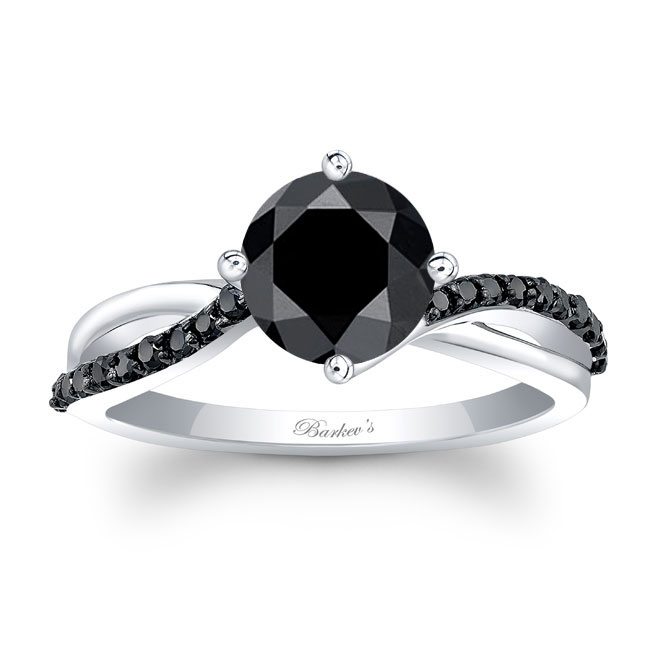 Twisted Black Diamond Ring Image 1