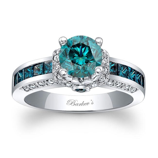 Blue Diamond Engagement Ring BD-6452LBD