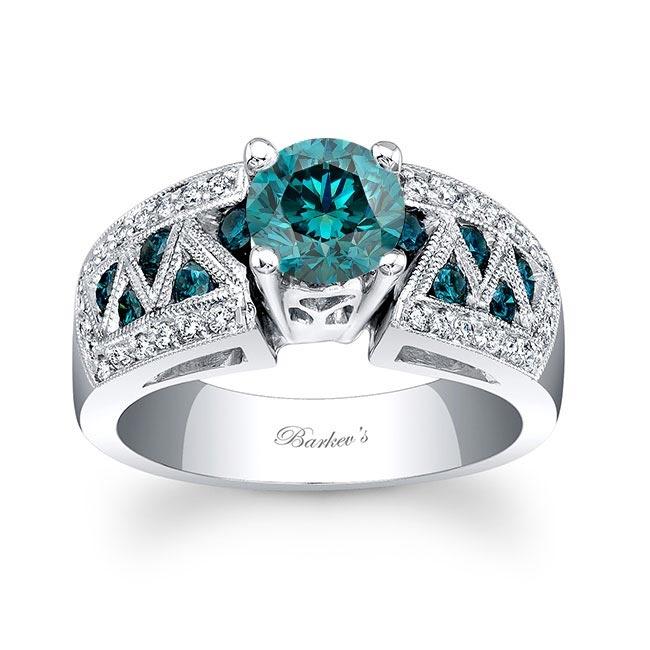 Blue Diamond Engagement Ring BD-6620LBD