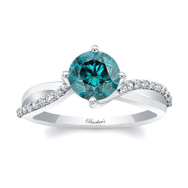 Twisted Blue Diamond Ring
