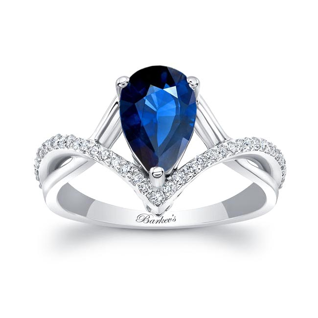 Unique Pear Shaped Sapphire Ring