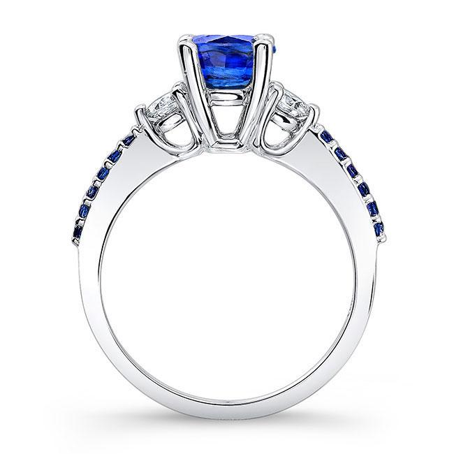 3 Stone Sapphire Engagement Ring Image 2