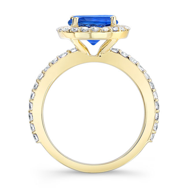 2.00ct. Blue Sapphire Engagement Ring BSC-7839L Image 2