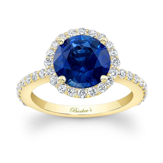 2.00ct. Blue Sapphire Engagement Ring BSC-7839L Image 1