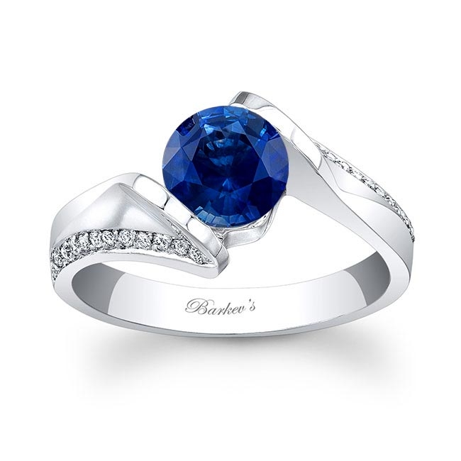 Blue Sapphire Engagement Ring BSC-7868L Image 1