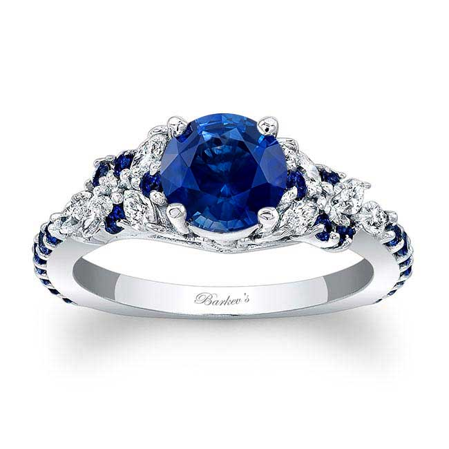 Vintage Marquise Sapphire Engagement Ring