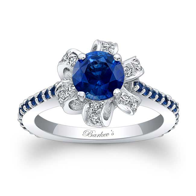 Blue Sapphire Engagement Ring BSC-7958LBS Image 1