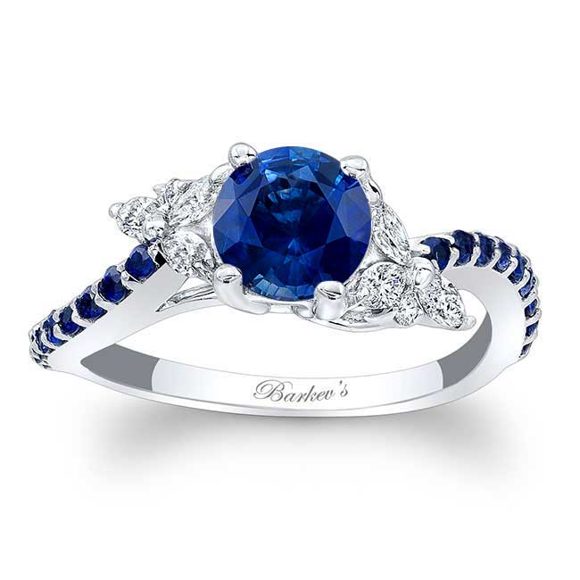 Blue Sapphire Engagement Ring BSC-7968LBS Image 1